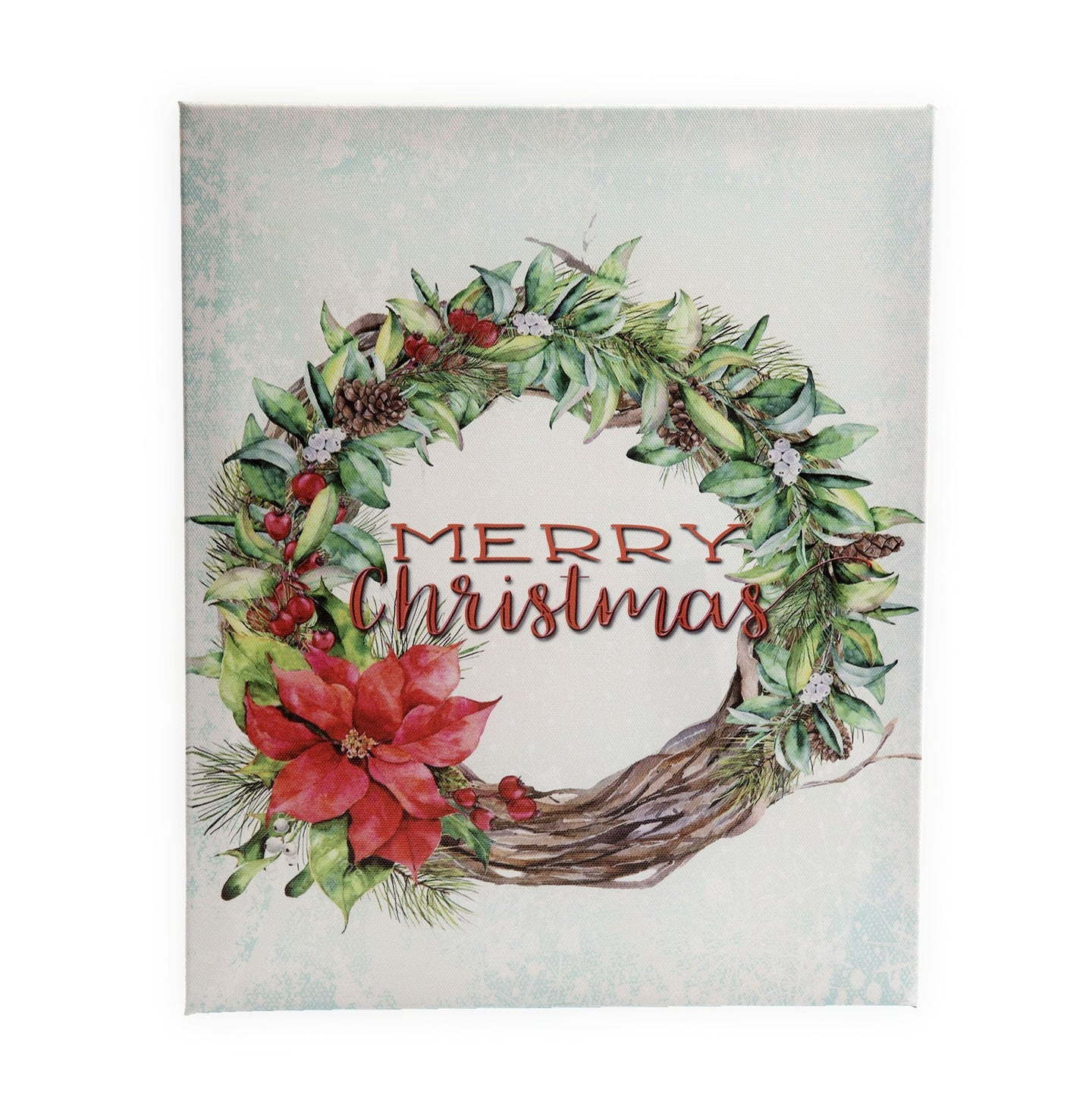 CP41 Merry Christmas Wreath Canvas