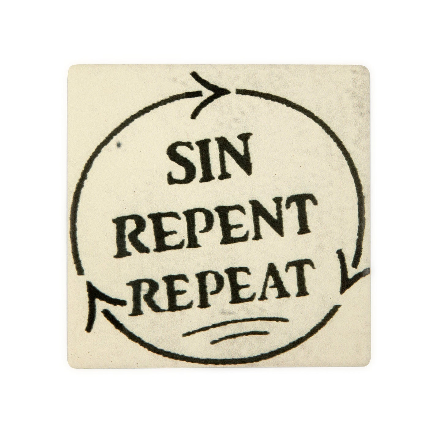 CT60 Sin Repent Repeat Coaster