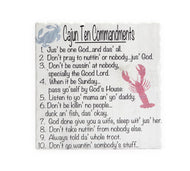 TV65 Cajun 10 Commandments trivet
