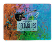 GCB54 Glass Cutting Board State Plate Delta Blues (12 x 15 1/2)