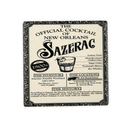 CT119 Sazerac Blk & Wht Single Coaster