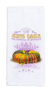 KT3 KING CAKE FOSTER TEA TOWEL