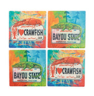 CT35 Set of 4 Coasters Louisiana