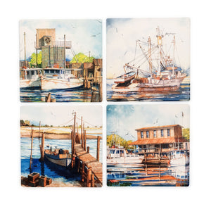 CT54 Set of 4 Coastal Coasters Rizzo