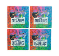 CT77 Set of 4 Coasters State Plate Delta Blues