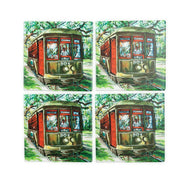 CT77.2 Set of 4 Coasters Streetcar