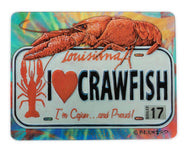 GCB51-GLASS CUTTING BOARD STATE PLATE CRAWFISH