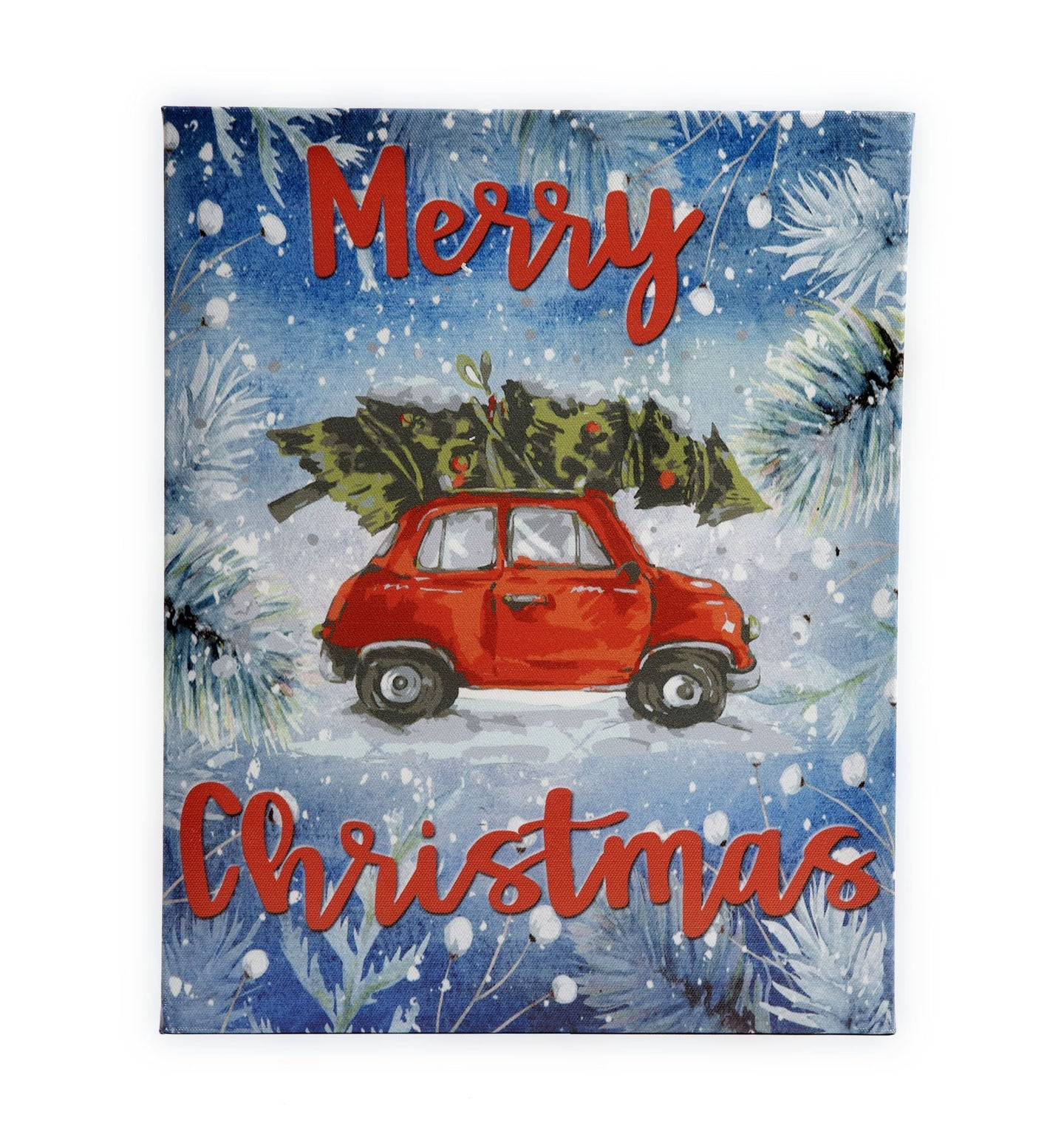 CP40 Merry Christmas Car Canvas