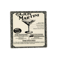 CT121 Cajun Martini Blk & Wht Single Coaster