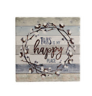 TV61 Happy Place Tumbled Tile Trivet