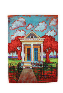 FG32 Shotgun House Garden Flag