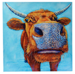 CP1 CANVAS PRINT BLUE COW
