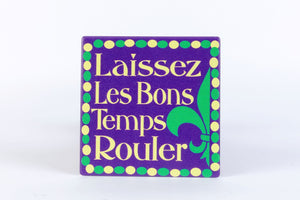 CT148 Laissez Mardi Gras Single Coaster