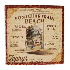 CT169 ponchatrain beach coaster