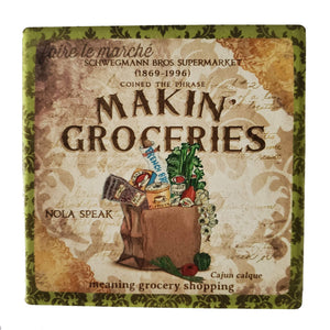 CT180  makin groceries coaster