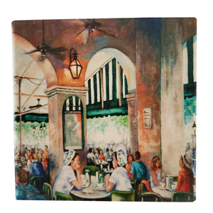 CT195 café girls coaster