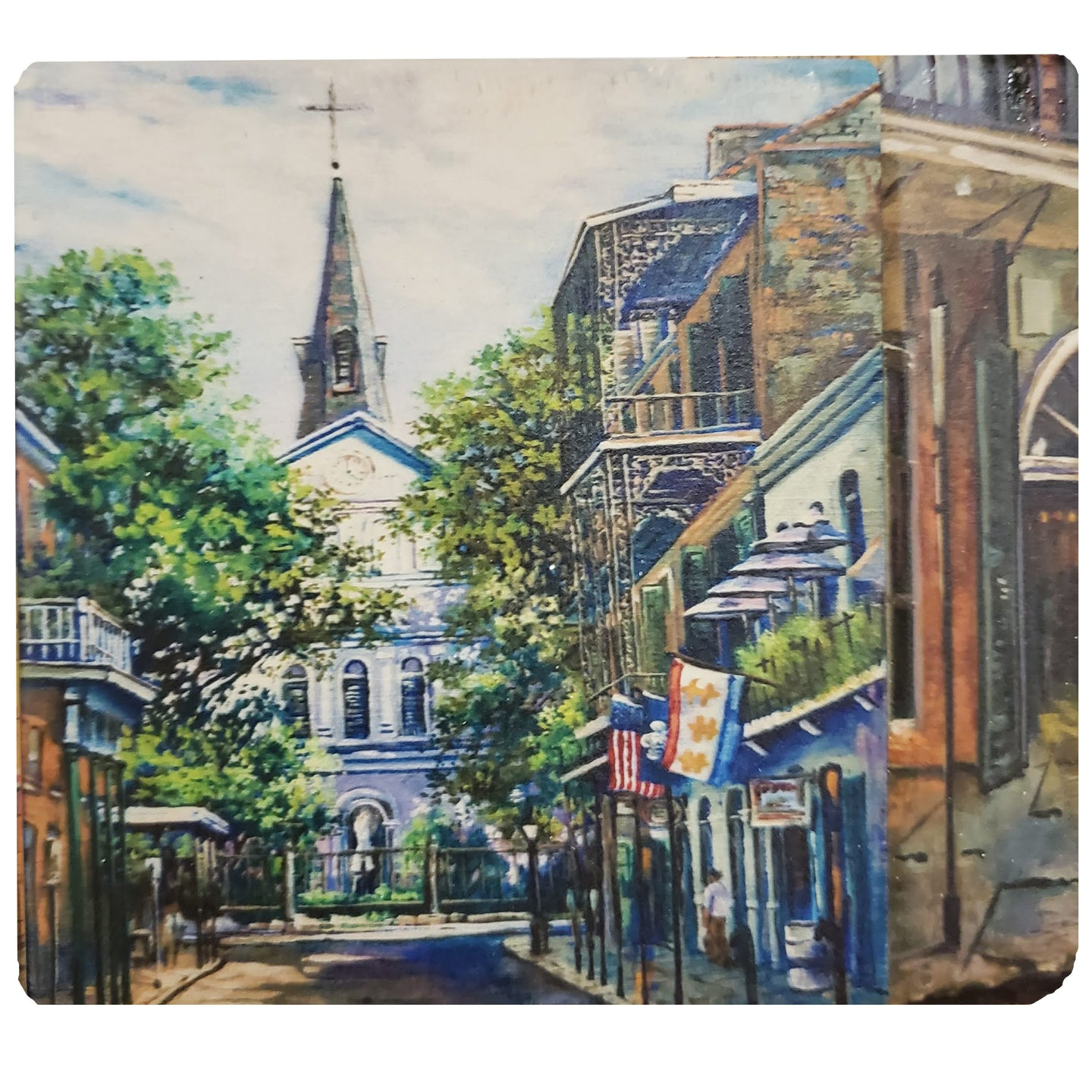 CT197 Cathedral Background Coaster