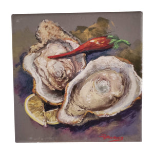 CT202 oysters and cayenne coaster