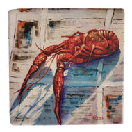 CT207 Crawfish on news coaster