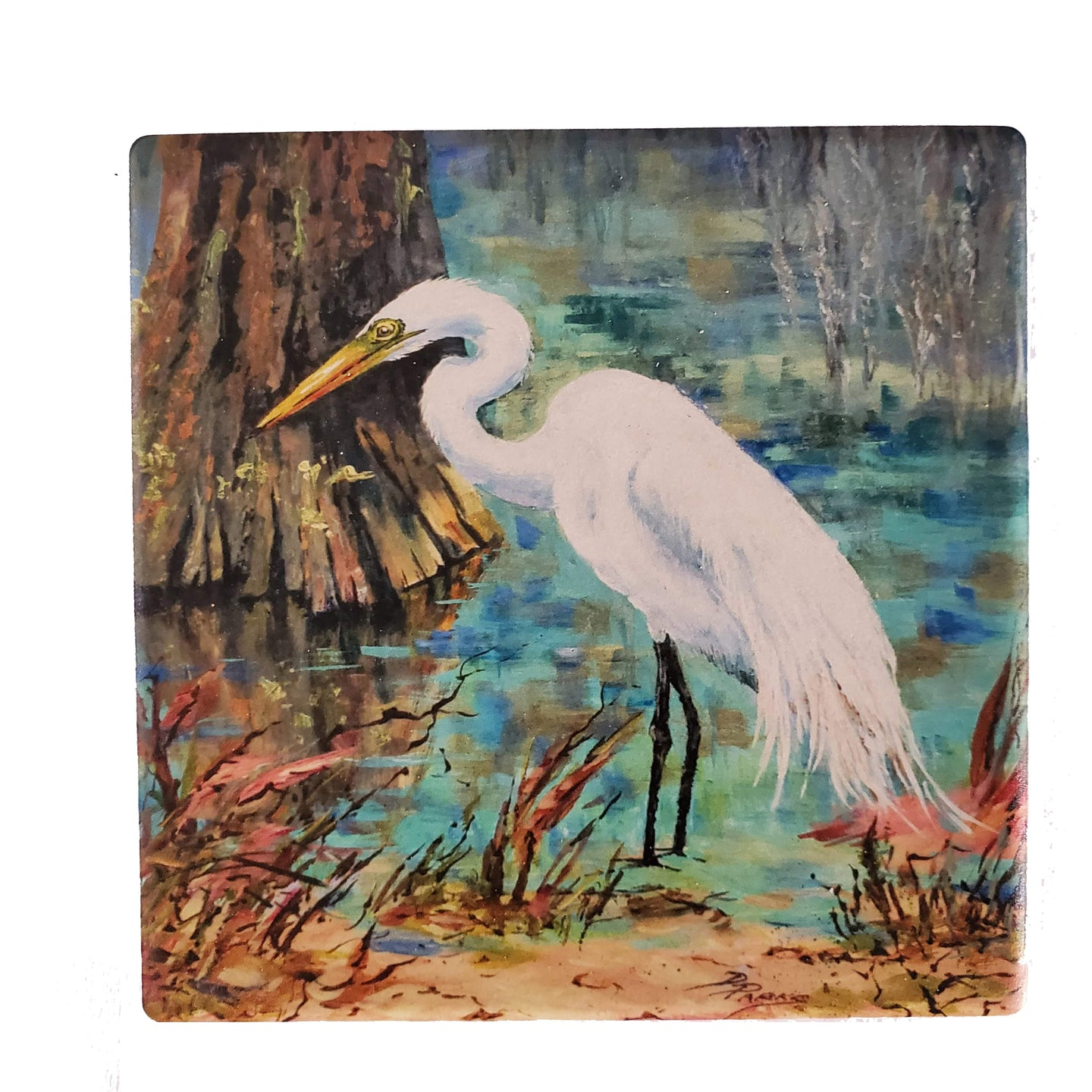 CT212 Louisiana  egret DP coaster