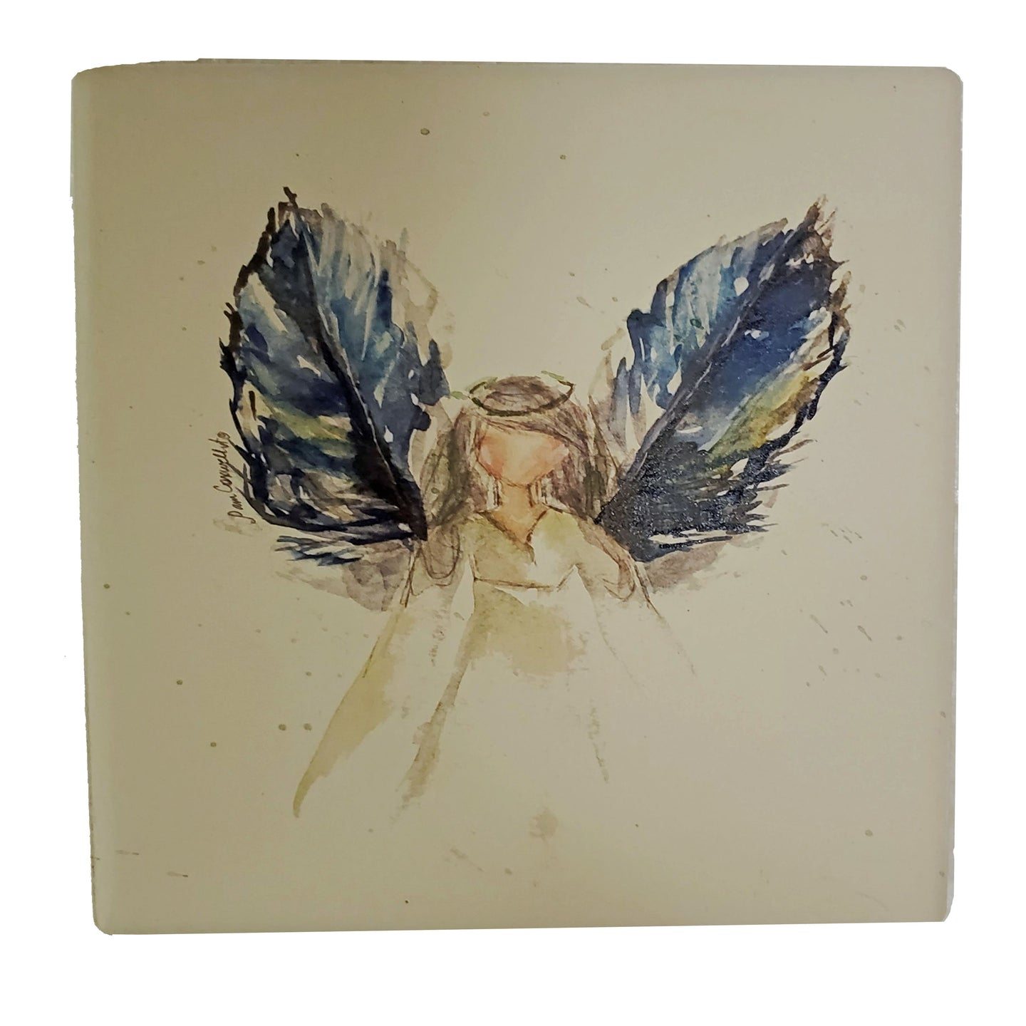 CT238 Coaster Blue Winged Angel