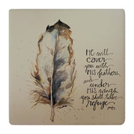 CT239 Coaster He Will Cover Feather
