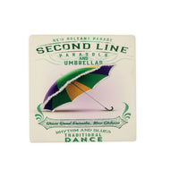 CT86 Mardi Gras Umbrella Coaster