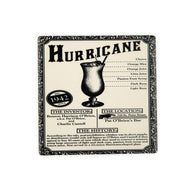 CT118 Hurricane Blk & Wht Single Coaster