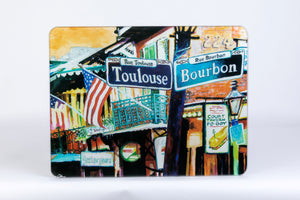 "GCB28 NEW ORLEANS GLASS CUTTING BOARD LARGE (12 x 15 1/2"")"