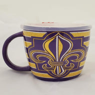 SM10 Purple & Gold Soup Mug