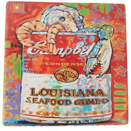 TV53 Trivet Soup Can Seafood Gumbo