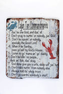 UH714 CAJUN TEN COMMANDMENTS WOODEN WALL ART