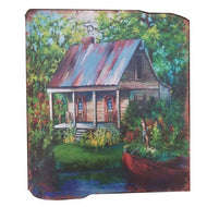 UH828 Bayou Cabin Wooden Wall Art