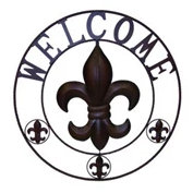 UH857 metal welcome wall decor