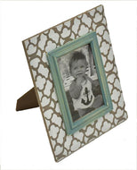 uh866 Photo Frame Gray & Blue 4X6
