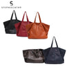 Bags women vintage genuine leather totes large capacity soft shoulder cow handbags daily shopping