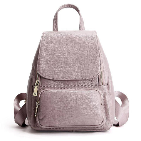 Backpack women 100% genuine leather fashion schoolbag notebook daily casual knapsack travel