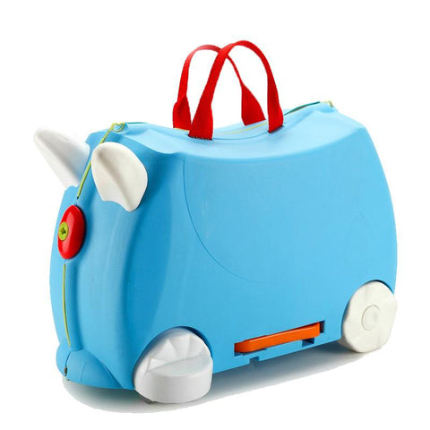 Luggage unisex children fashion travel locker car toy box suitcase can sit to ride check holiday gift storage