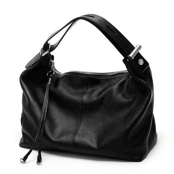 Handbag women 100% genuine cow leather style extendable top handle cowhide casual tote shoulder bags