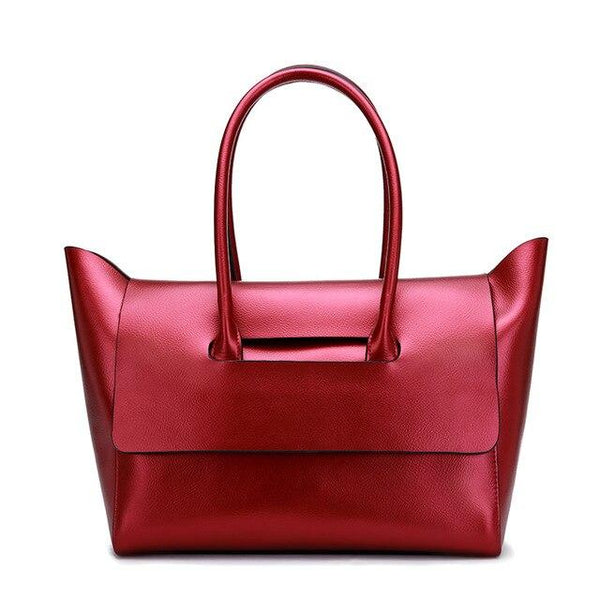 Bags women shopping fashion handbags leisure shoulder portable genuine leather top-handle big tote