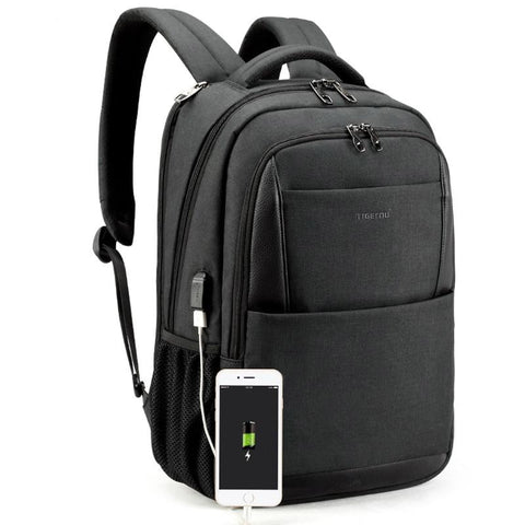 Backpacks male anti theft usb charging 15.6 laptop notebook college schoolbag