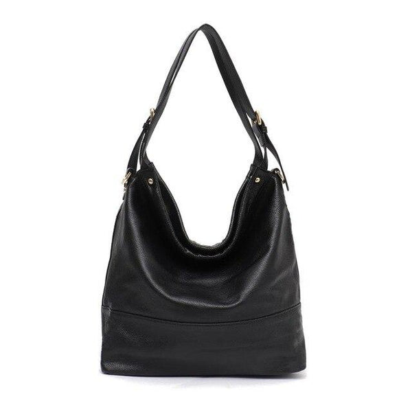 Bags for women genuine leather large capacity hobo shoulder soft real handbags casual messenger