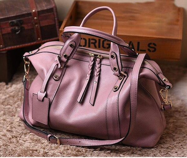 Handbag women natural cowhide genuine leather shoulder fashion messenger casual tote