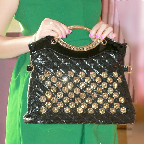 Bag women diamonds fashion handbag rhinestone shoulder large capacity messenger evening