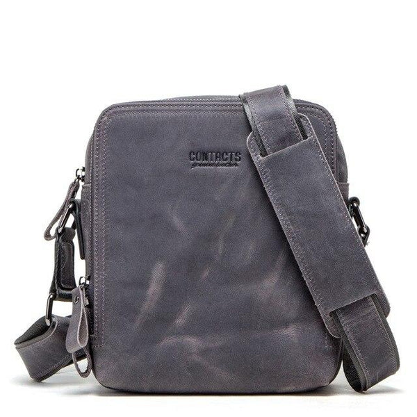 Backpack men leather messenger shoulder fashion crossbody flap business travel large ipad handbags gift