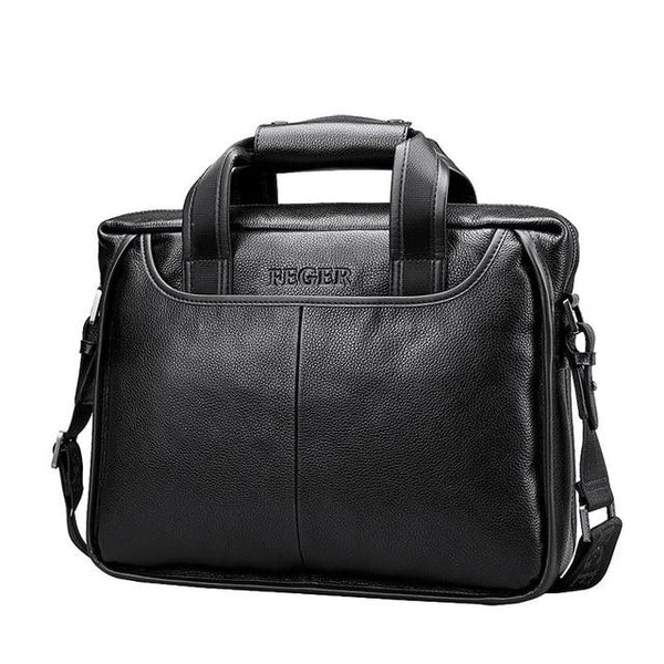 Handbag men's genuine leather shoulder bag brand business laptop briefcase crossbody messenger