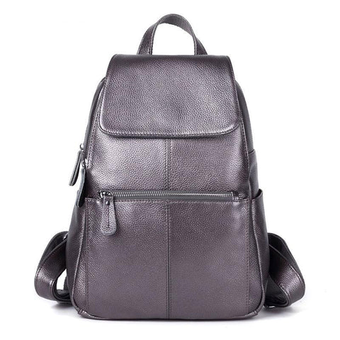 Backpack women 100% real genuine leather cowhide first layer school book bags