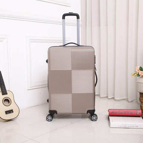 Luggage unisex travel rolling sipnner wheel abs+pc suitcase on wheels fashion cabin carry-on trolley box 20/28 inch