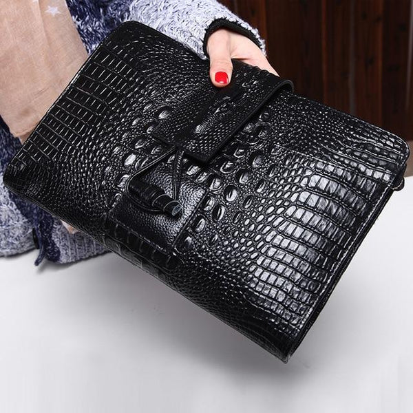Bag women alligator designer clutch genuine leather shoulder luxury purses and handbags crossbody