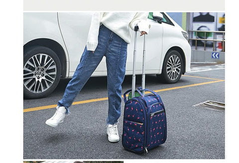 Luggage for women travel bag wheels cabin travel rolling trolley suitcase wheeled tote duffles